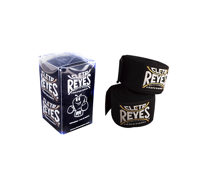 Product shot of Black and white Cleto Reyes Hook and Loop Closure Handwraps